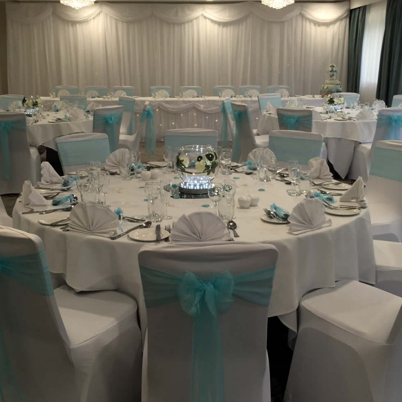 Lush Occasions Wedding Chair Covers Sashes Centrepieces