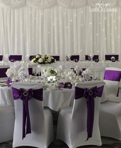 Lush occasions wedding chair covers sashes centrepieces satin sash junglespirit Images